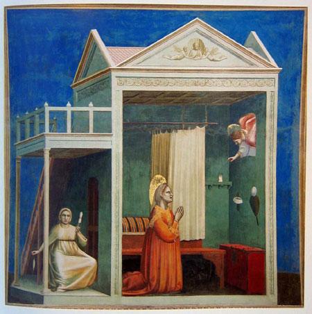 giotto, l'annuncio ad anna, 1303-04